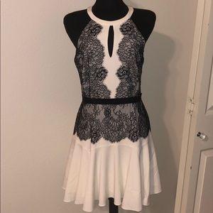 Black and White Lace BCBG Maxazria dress | size 10